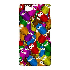 Cute owls mess Sony Xperia Z1 Compact