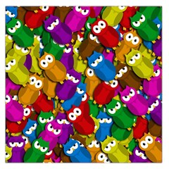 Cute owls mess Large Satin Scarf (Square)