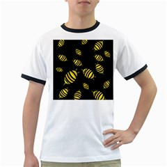 Decorative bees Ringer T-Shirts