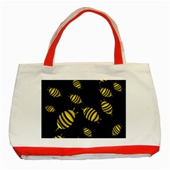 Decorative bees Classic Tote Bag (Red)