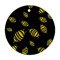 Decorative bees Round Ornament (Two Sides)