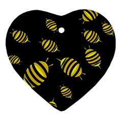 Decorative bees Heart Ornament (2 Sides)
