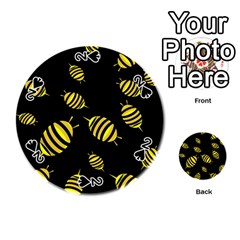 Decorative bees Playing Cards 54 (Round)
