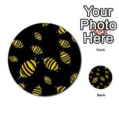 Decorative bees Multi-purpose Cards (Round)