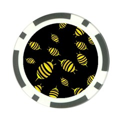 Decorative bees Poker Chip Card Guards (10 pack)