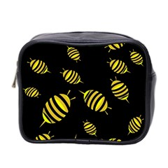 Decorative bees Mini Toiletries Bag 2-Side