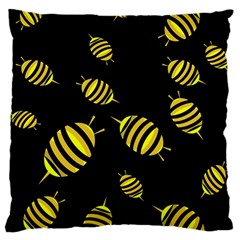 Decorative bees Large Cushion Case (One Side)