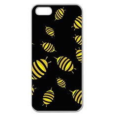 Decorative bees Apple Seamless iPhone 5 Case (Clear)