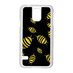 Decorative bees Samsung Galaxy S5 Case (White)