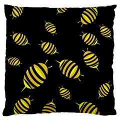 Decorative bees Large Flano Cushion Case (One Side)