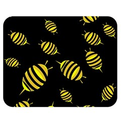 Decorative bees Double Sided Flano Blanket (Medium)