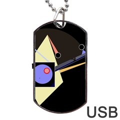 Construction Dog Tag USB Flash (Two Sides)