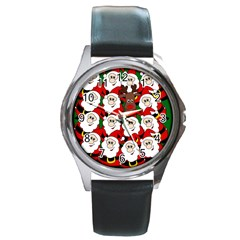 Did you see Rudolph? Round Metal Watch