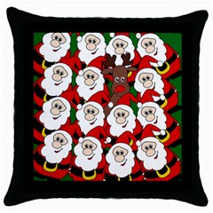 Did you see Rudolph? Throw Pillow Case (Black)