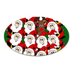 Did you see Rudolph? Oval Magnet