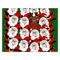 Did you see Rudolph? Rectangular Jigsaw Puzzl