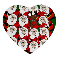 Did you see Rudolph? Heart Ornament (2 Sides)