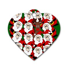 Did you see Rudolph? Dog Tag Heart (One Side)