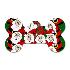 Did you see Rudolph? Dog Tag Bone (Two Sides)