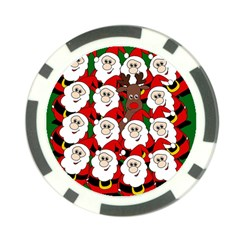 Did you see Rudolph? Poker Chip Card Guards