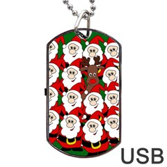 Did you see Rudolph? Dog Tag USB Flash (Two Sides)