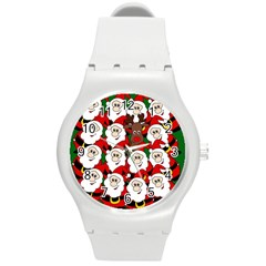 Did you see Rudolph? Round Plastic Sport Watch (M)