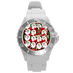 Did you see Rudolph? Round Plastic Sport Watch (L)