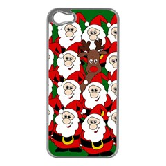 Did you see Rudolph? Apple iPhone 5 Case (Silver)