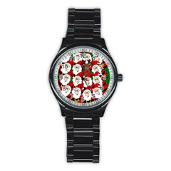 Did you see Rudolph? Stainless Steel Round Watch