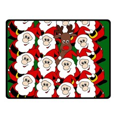Did you see Rudolph? Double Sided Fleece Blanket (Small)