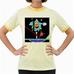 Abstract composition  Women s Fitted Ringer T-Shirts