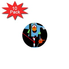 Abstract composition  1  Mini Buttons (10 pack)