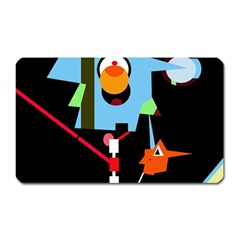 Abstract composition  Magnet (Rectangular)