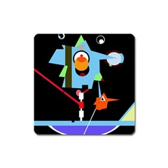Abstract composition  Square Magnet