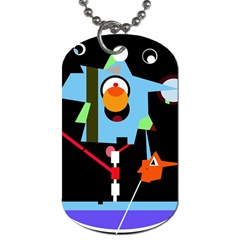 Abstract composition  Dog Tag (Two Sides)