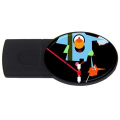 Abstract composition  USB Flash Drive Oval (2 GB)