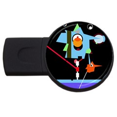 Abstract composition  USB Flash Drive Round (4 GB)