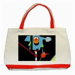 Abstract composition  Classic Tote Bag (Red)