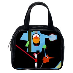 Abstract composition  Classic Handbags (One Side)