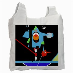 Abstract composition  Recycle Bag (One Side)