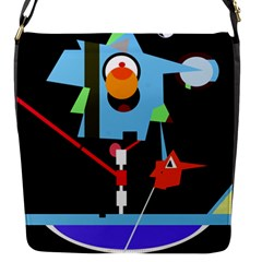Abstract composition  Flap Messenger Bag (S)