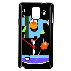 Abstract composition  Samsung Galaxy Note 4 Case (Black)