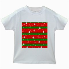 Xmas pattern Kids White T-Shirts