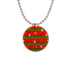 Xmas pattern Button Necklaces
