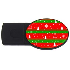 Xmas pattern USB Flash Drive Oval (4 GB)