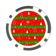 Xmas pattern Poker Chip Card Guards