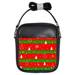 Xmas pattern Girls Sling Bags