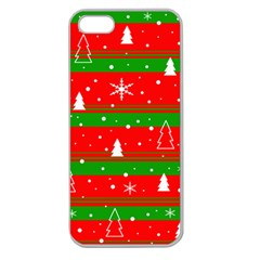Xmas pattern Apple Seamless iPhone 5 Case (Clear)