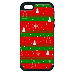 Xmas pattern Apple iPhone 5 Hardshell Case (PC+Silicone)