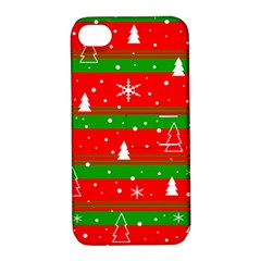 Xmas pattern Apple iPhone 4/4S Hardshell Case with Stand